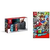 Nintendo Switch Console - Neon Edition  + Super Mario Odyssey