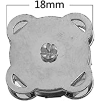 House Approx.Ten Sets Little Sews Snap Button Bag Clasps(Silver)_1.8cm for Life