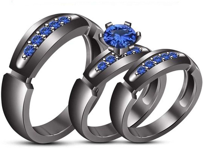 Suhana Jewellery 14K Yellow Gold Fn Alloy Simulated Diamond Studded Engagement Wedding Ring