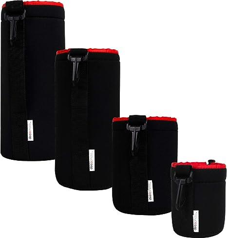 Deco Photo 4-Pack Neoprene Lens Bag