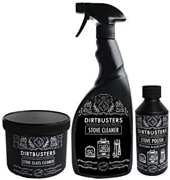 Dirtbusters Stove Care Kit With Stove Glass Cleaner Stove Polish And Stove Cleaner