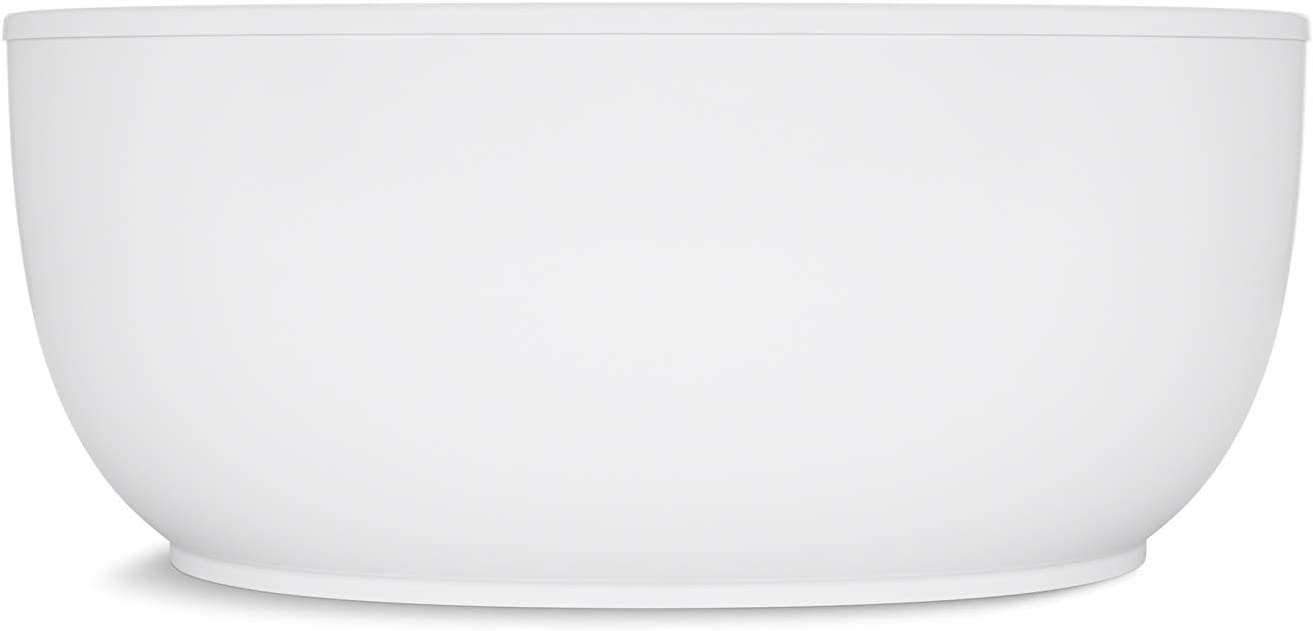 Biscuit 1-Pack KOHLER K-6369-96 Sunstruck 66-Inch X 36-Inch Oval Freestanding Bath with Fluted Shroud and Center Drain