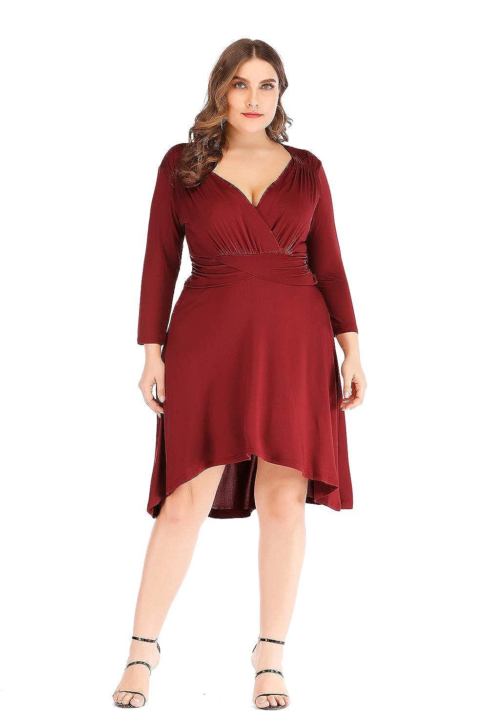 7e99ac65dff Amazon.co.uk: plus size evening dresses: Clothing