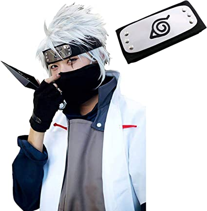 MUEKA Naruto Headband Ninja Cosplay Headbands Leaf Village Halloween Kakashi Costumes Cosplay