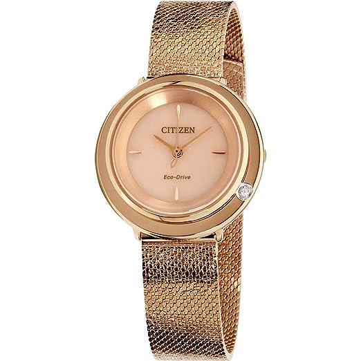 Citizen Reloj de Mujer Eco-Drive 32mm Correa y Caja de Acero EM0643-50X: Amazon.es: Relojes