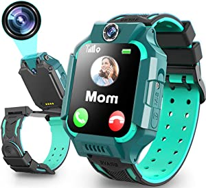 Kids Smart Watch for Girls Boys 4-12 Age 360°Rotation Dual Cameras Waterproof LBS Tracker Phone Watch with 1.5
