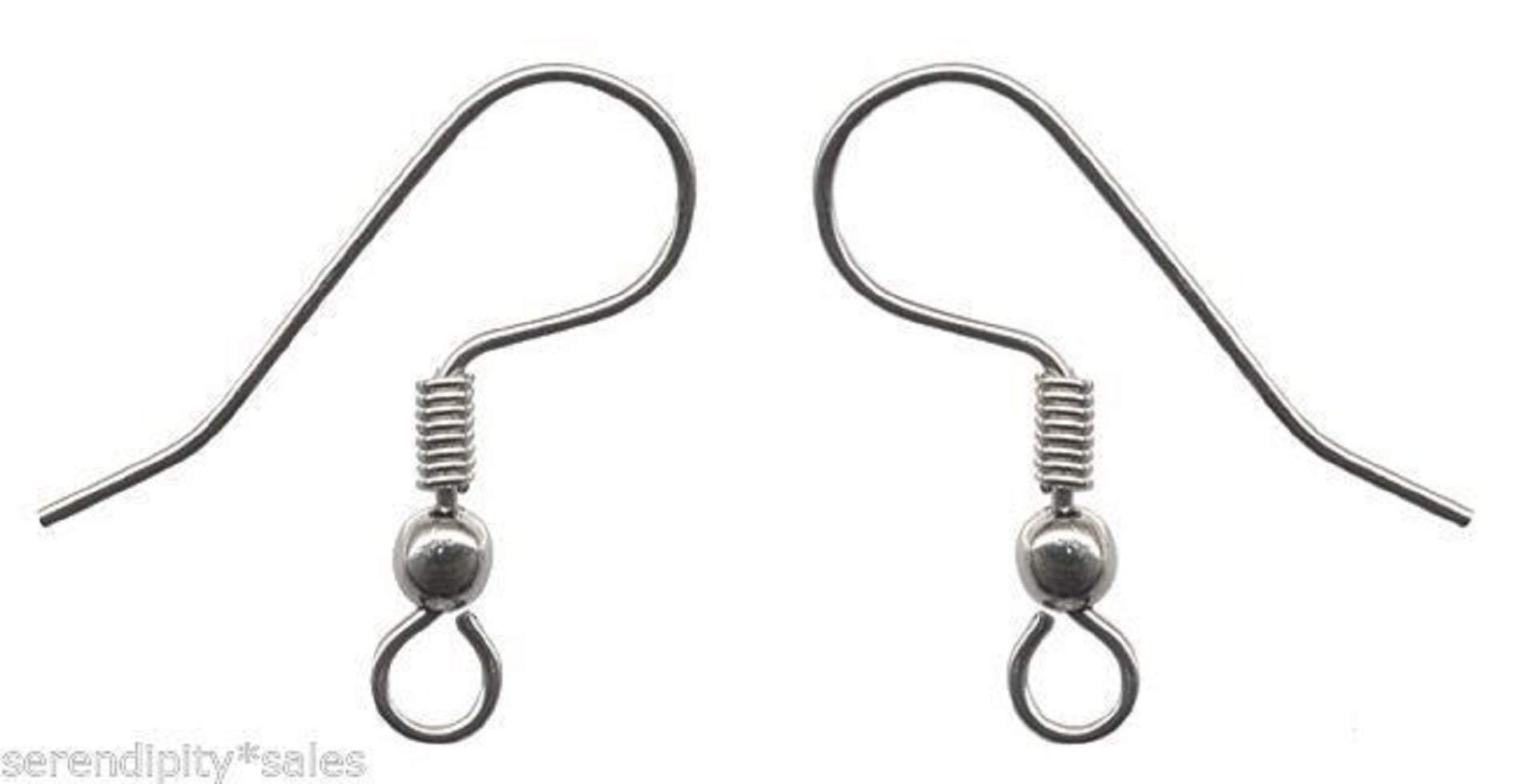 720 (5 Gross) Stainless Steel Ear Wires Earrings French Hooks ~ Ball + Coil end ~ Serena by Serena