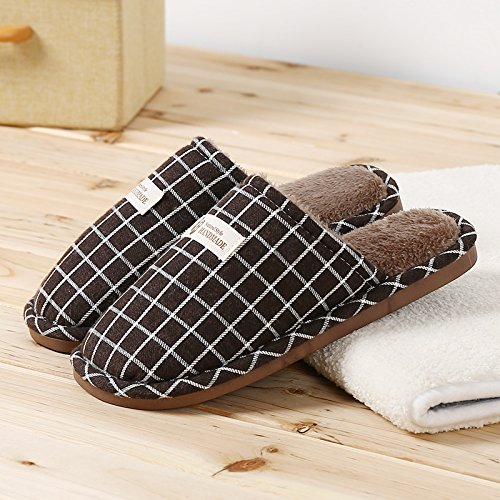 Fankou cotone personalizzato pantofole uomini femmina rientrano spesso soggiorno invernale il vostro soggiorno con l'elegante e alla moda e ,43-44, confezione caffè
