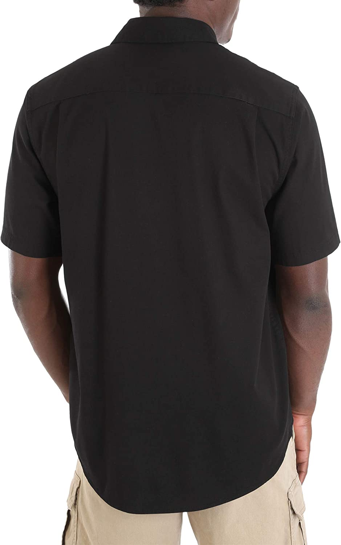 Wrangler Short Sleeve Stretch Button Down Shirt Medium 38//40, Green