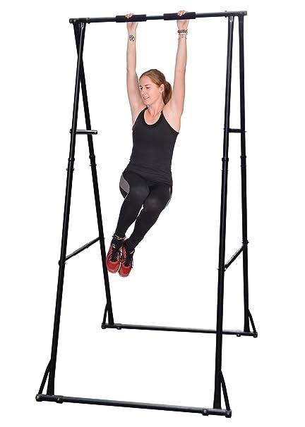 d3e172e85ac Khanh Trinh Workout Gymnastics Bar Equipment  KT Two Tier Height Adjustable  Folding Chin Up Bar
