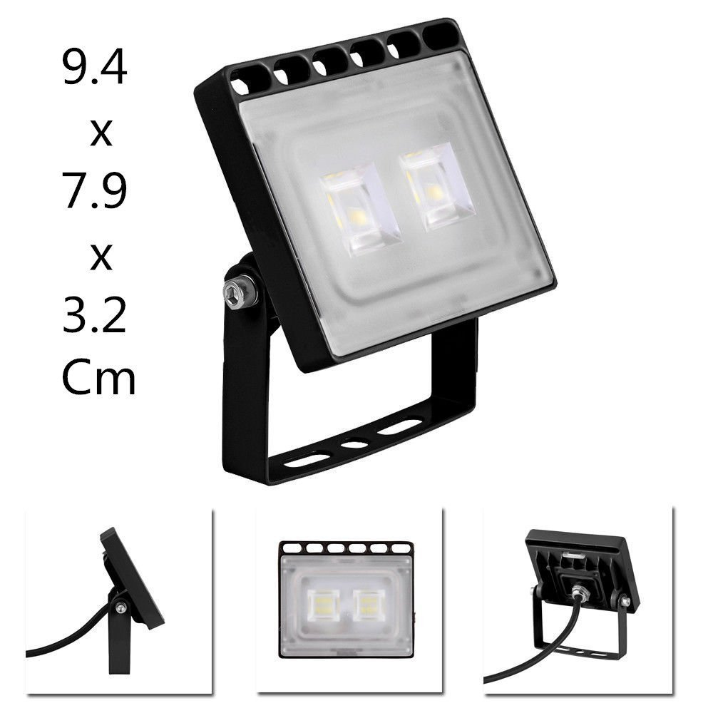 IP65 Waterproof LED Flood Light Chunnuan 2800-3500K Outdoor Security Lights Garden Landscape Spot Lamp Super Bright Floodlight 110v 100W 8000LUMEN Warm White