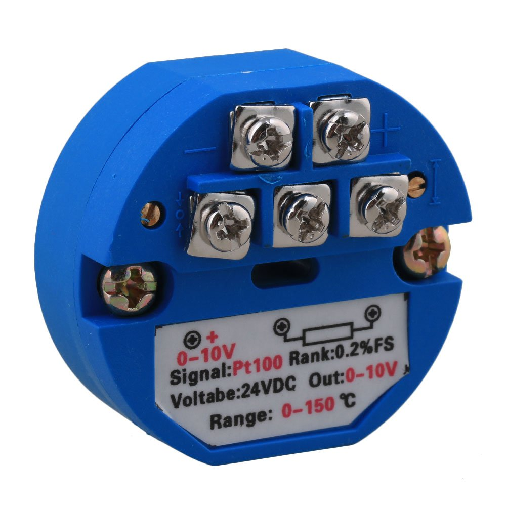 5 x Blue PT100 Temperature Sensor Transmitter 0°C to 150°C 0-10V Output