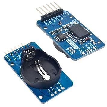Ociodual Modulo Arduino Reloj de Precision DS3231 con Pila AT24C32 IIC Real Time Clock: Amazon.es: Electrónica