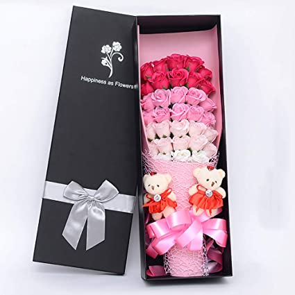 Amazon QJJML Soap Flower Rose Gift Box Send Girlfriend