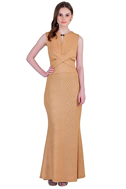 5fb63a51cd5 SVT ADA COLLECTIONS Women s New Collections Brown Coloured Party wear Maxi  Dress