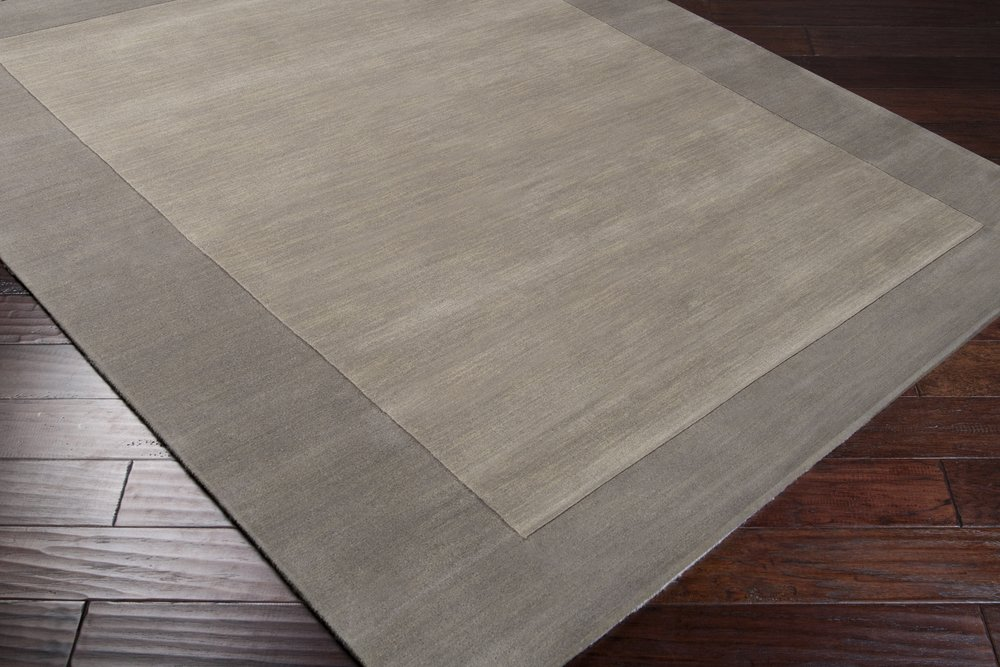 Surya Mystique M-312 Transitional Hand Loomed 100% Wool Elephant Gray 2'6'' x 8' Runner