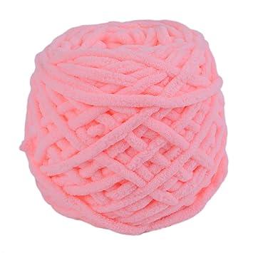 Tipo suave Cómoda Bufanda Suéter Toalla Hilo grueso Hilo de tejer Bola Salud natural Hogar Hilo de bricolaje Bola para tejer - Rosa claro: Amazon.es: Hogar