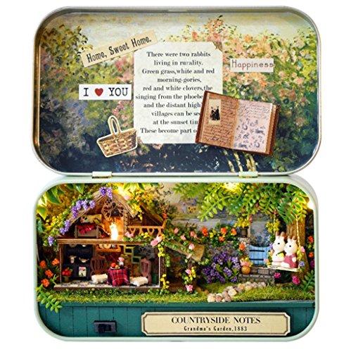 Dragon868 DIY Miniature 3D Doll House Dollhouse Kit for Box Theatre Trilogy  Green Forest (b) 4d9c7d917