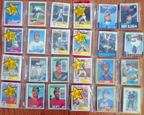 Lot of (8) 1986 1987 1988 1989 Topps Baseball Card Un-opened Rack Packs. ()