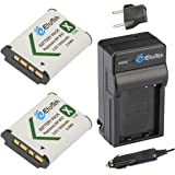 EforTek NP-BX1 Replacement Battery (2-Pack) and Charger kit Sony NP-BX1, NP-BX1/M8 and Sony Cyber-shot DSC-H400, DSC-HX50V, DSC-HX300, DSC-HX400, DSC-RX1, DSC-RX1R, DSC-RX100, DSC-RX100 II, DSC-RX100 III, DSC-RX100M2, DSC-RX100M3, DSC-WX300, DSC-WX350, HDR-AS10, HDR-AS15, HDR-AS30V, HDR-AS100V, HDR-AS100VR, HDR-CX240, HDR-MV1, HDR-PJ275,DSC-HX90V,DSC-WX500,RX100 IV