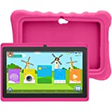 """Yuntab Q88H 7"""" Tablette Tactile Enfant 1024X600 HD Resolution 8Go Android 4.4 A33 Quad Core Bluetooth Google Play Store avec Etui en silicone (Rose)"""