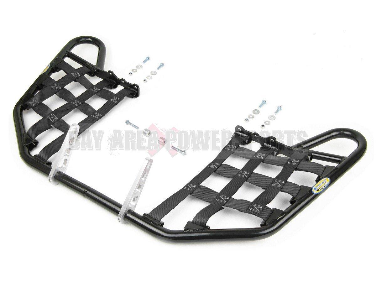 Honda TRX 250EX 250X Nerfbars Atv Nerf Bars 2001-2016 Black Bars / Black Nets