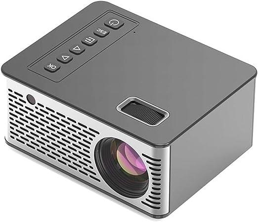 FLOR FALSA Mini Proyector, Led Proyector del Teatro Casero HD Niños con Altavoces Estéreo Bluetooth,Compatible Ordenador Portátil/TV Box/PS4/Teléfono para Hogar/Entretenimiento Aire Libre: Amazon.es: Hogar