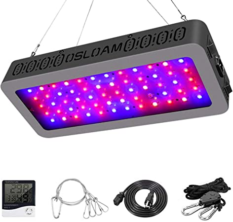 Vegetab Led Grow Light Honesorn 600w Full Spectrum Growing Lamp With Uv Ir Grow Lights For Indoor Plants Indoor Garden Plant Light With Thermometer Humidity Monitor And Adjustable Rope Greenhouse