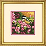 Mini Needlepoint: Chickadee In Pink