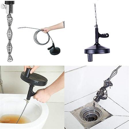 Keptfeet Air Power tubo Dragaggio strumento per tubi di scarico tubo Fogna Spolverino per vasca da bagno WC lavello