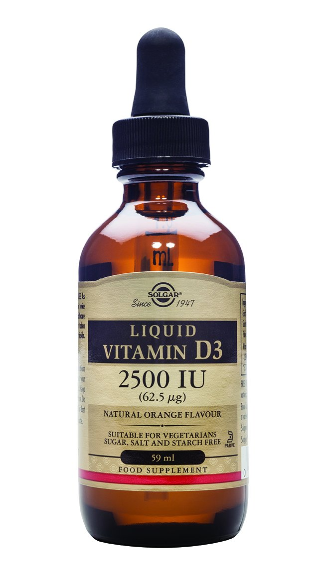 Solgar Liquid Vitamin D3 (Cholecalciferol) 5000 IU, Natural Orange Flavor, 2 oz