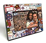 "MLB Texas Rangers Wooden Ticket Collage Picture Frame, Black, 4 x 6""/Small"