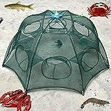 ZREAL 6 agujeros plegable pesca malla nylon cangrejo camarón red trampa de inmersión jaula cebo de pesca para peces…
