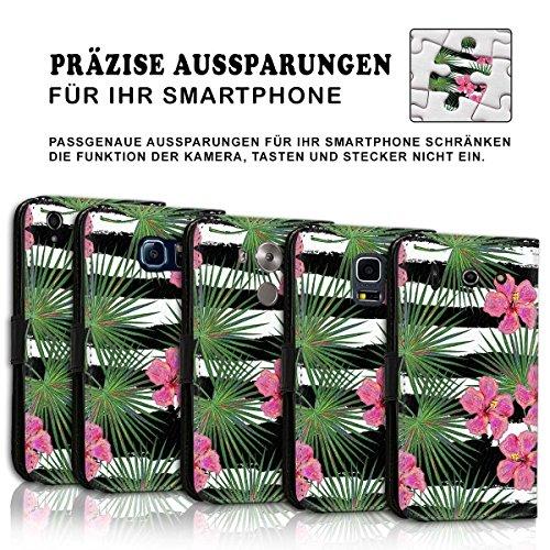 Wallet Book Style Flip Handy Tasche Case Schutz Hülle Schale Motiv Etui für Apple iPhone 4 / 4S - Design Flip MVD241