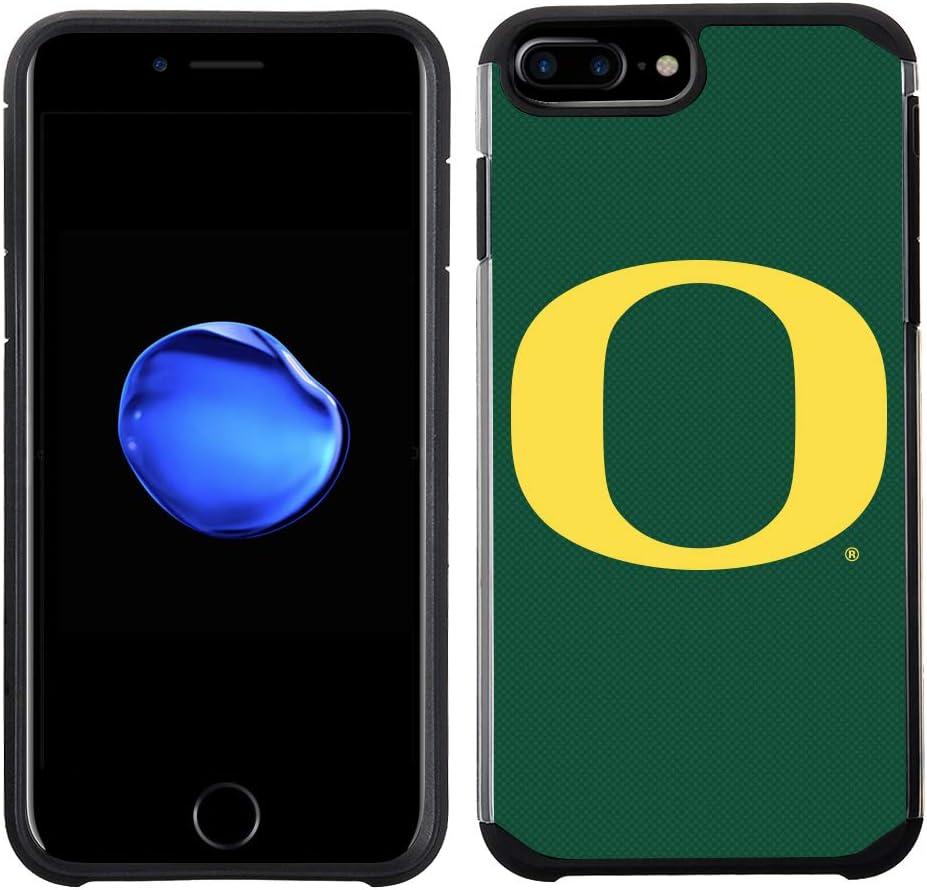 Prime Brands Group Textured Team Color Cell Phone Case for Apple iPhone 8 Plus/7 Plus/6S Plus/6 Plus - NCAA Licensed University of Oregon Ducks