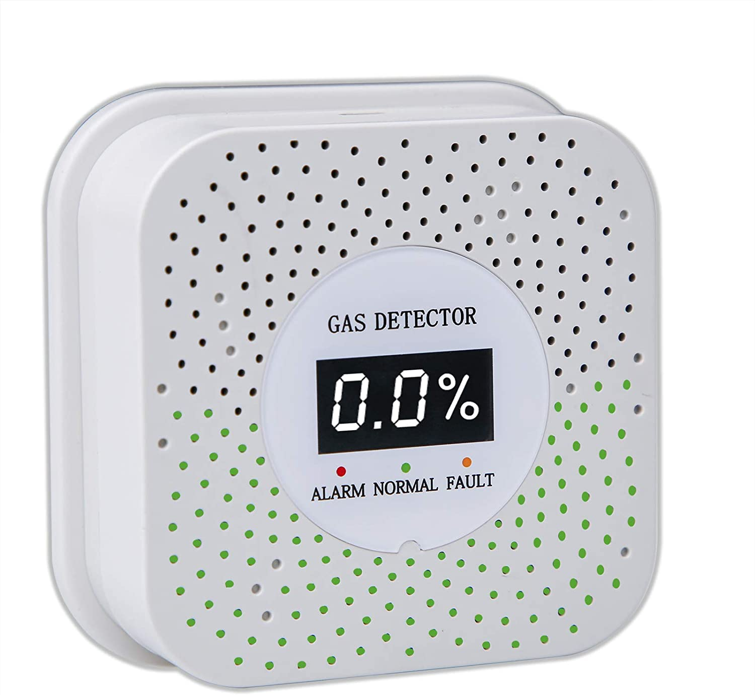Natural/Propane Gas Detector, Gas Leak Detector with LCD Digital Real-time Display for Home and Kitchen Use, High Sensitivity Gas Alarm for LPG LNG