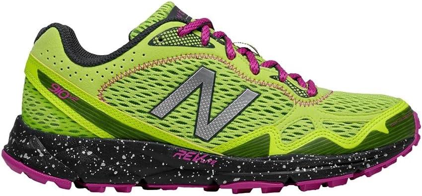 New Balance Nbwt910po2 - Zapatillas de Material Sintético para Mujer Morado púrpura/Naranja, Color Verde, Talla 46 EU B: Amazon.es: Zapatos y complementos