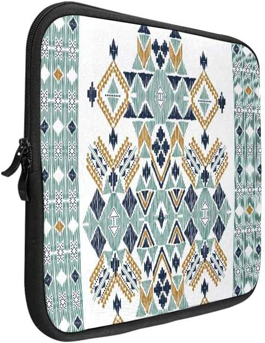 Ethnic Geometric Pattern Laptop Sleeve Case 15 15.6 Inch Briefcase Cover Protective Notebook Laptop Bag