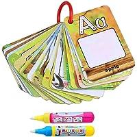 رسم بالألوان المائية دفتر فن غرافيتي بطاقة 26 حرف التعليم المبكر للأطفال بطاقات لتنمية الإدراك الأبجدية من ايه إلى زد…
