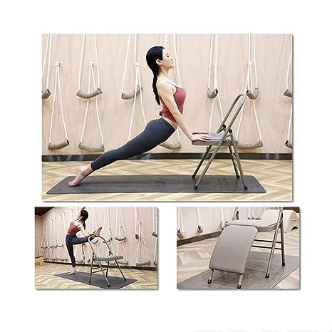 DLIBIG Plegable Metal Silla Auxiliar Yoga Silla Iyengar ...