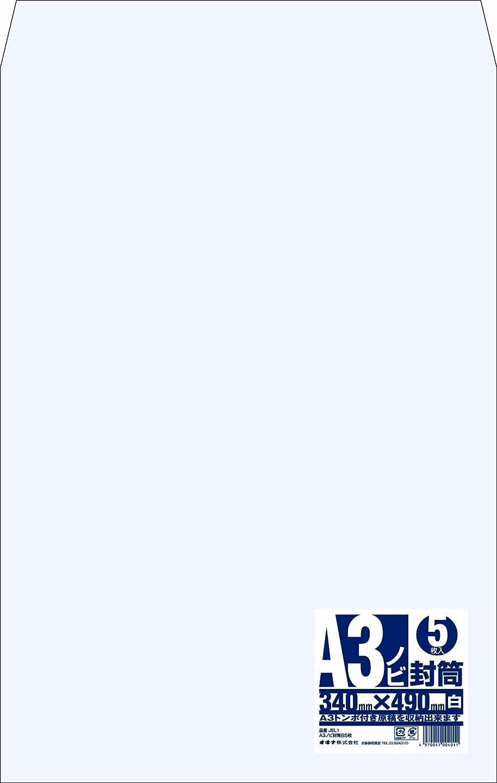 公園オアシス行方不明A5 厚紙封筒 ワンタッチ貼付テープ、開封テープ付き 白【50枚】