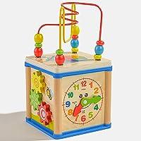 Babyrise Laberinto de Madera para Bebé Laberintos con Cuentas Juguete Interactivo para Coordinar Manos y Ojos