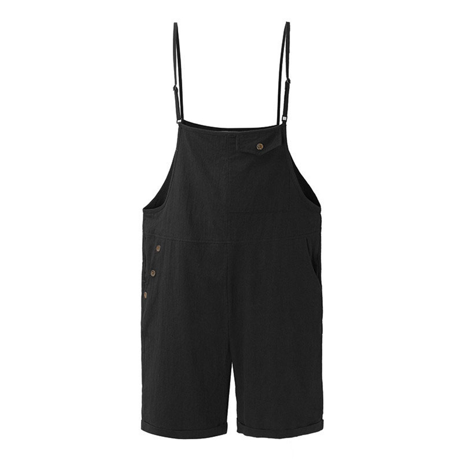 Ygosoon M-5XL Women Jumpsuits Rompers Wide Leg Playsuits Dungarees Black XL