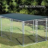 Alion Home Sun Block Dog Run & Pet Kennel Shade Cover (Dog kennel not included) (10' x 6', Dark Green)