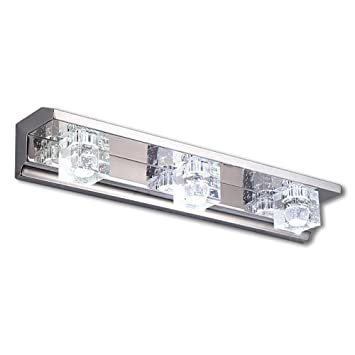 Stainless Steel Bathroom Make up K9 Crystal Led Lights Wall Lamps