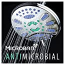 "AquaStar Elite High-Pressure 7"" Giant 6-setting Luxury Spa Rain Shower Head with Microban Antimicrobial Anti-Clog Jets for More Power & Less Cleaning! / Solid Brass Ball Join / All Chrome Finish"