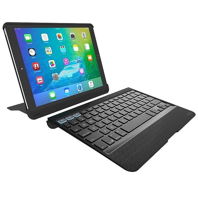 Zagg Slim Book Pro Bluetooth Teclado y Carcasa para Apple iPad Pro 9,7 con función Atril - Negro: Amazon.es: Informática