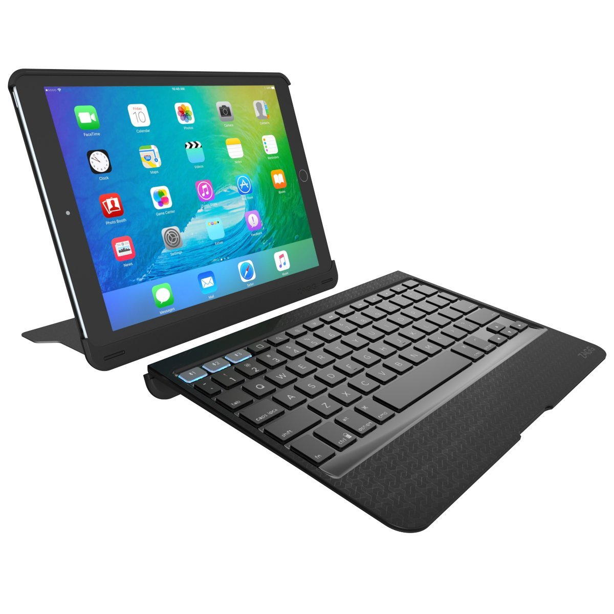 ZAGG Slim Book Pro Bluetooth Keyboard and Case for Apple iPad Pro 9.7 / iPad Air 2 with Kickstand - Black by ZAGG