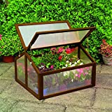 Gardman 7650 Large Wooden Cold Frame, FSC Certified Timber Frame, 35'' Long x 31'' Wide x 35'' High