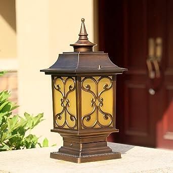 Modeen Continental Tradition Victoria Glassäule Lampe Moderne Vintage  Aluminium Outdoor Tisch Schreibtischlampe Rasen Garten Lichter Post